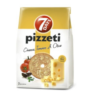Pizzeti 7days emmental/tomato/olive 80g