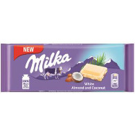 Milka White Almond 90g Mondelez
