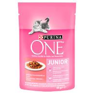 Kaps. kočka Junior losos/mrkev 85g Purina T
