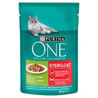 Kaps. kočka Sterilcat krůtí/fazolky 85g Purina T