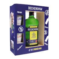 Becherovka 40% 0,5l + 2 kalíšky T