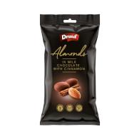 Mandle v  ml. čokoládě se skořicí 90g Druid  XK