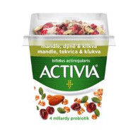Activia bílá+granola(mandle, dýně, klikva) 155g