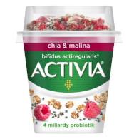 Activia bílá+granola(chia, malina) 155g