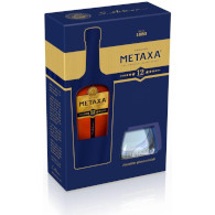 Metaxa 12* 40% 0,7l +2skla REMY
