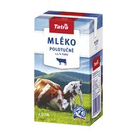 Mléko polotučné Tatra 1l TP