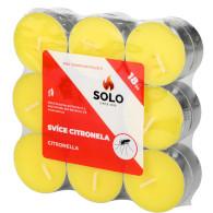 Svíčky čajové Citronella 18ks SOLO