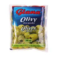 Olivy zelené bez pecky Giana sáč. 195g