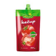 Kečup jemný Hello SA 200g