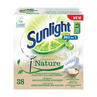 Sunlight tabl. do myčky AiO Nture 38ks XK