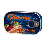 Sardinky olej chilli Giana 125gPP90g