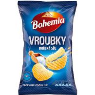 Chips Boh. Vroub. moř. sůl 65g INR