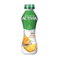 Activia nápoj ananas/mango/len 280g