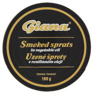 Šproty uzené v oleji 160g Giana
