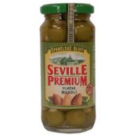Olivy zelené s mandlí Sevilla 235g S