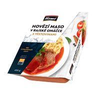 Hovězí maso v rajské om. těstoviny 450g Hamé