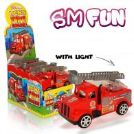 Hasičské auto svítící s cukrovinkou 5g Trebor
