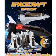 Hračka Spacecraft raketoplán svítící s cukr. 5g