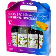 Monin Cocktail box 4x0,25l (gren, jah, curacao,kokos)