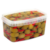 Olivy Mamut s chilli papr. 1kg Heleb