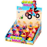 Hračka čtyřkolka Quad Dolly  + kompr. jahoda 5g